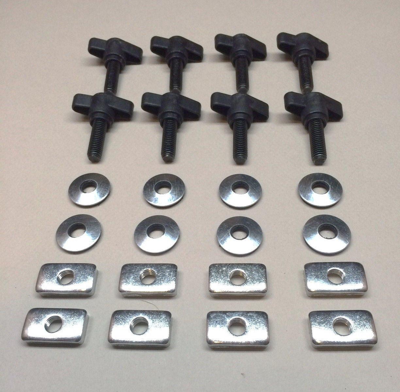 Black Bentolin Universal Hard Top Quick Removal Fastener Thumb Screw and Nut Kit for 1995-2017 Jeep Wrangler YJ TJ JK JKU Sports Sahara Freedom Rubicon X /& Unlimited X 2 Door 4 Door